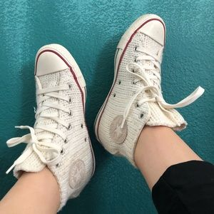 Unique knitted Converse
